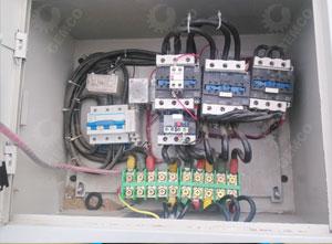400型颗粒机电控柜内部图
