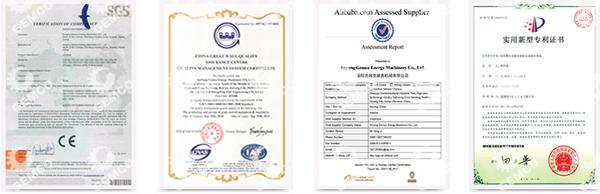 吉姆克产品均通过ISO9001和欧盟CE认证