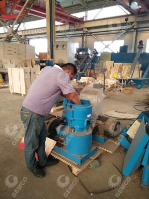 水冶客户考察颗粒机设备